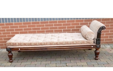 William IV Rosewood veneer day bed or chaise lounge: Earlier...