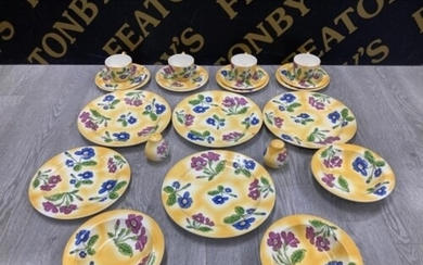 22 PIECES OF BRONY LANGWORTH POOLE PRIMULA POTTERY INCLUDES ...