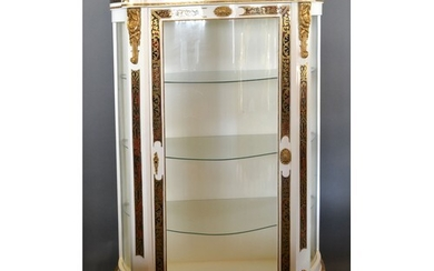 A French boulle style white painted and gilt metal mounted S...
