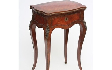 A LOUIS XV STYLE WORK TABLE, 19th century, in kingwood and t...