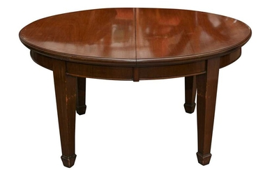 A MAHOGANY WIND OUT EXTENDING DINING TABLE, EARLY 20TH CENTURY