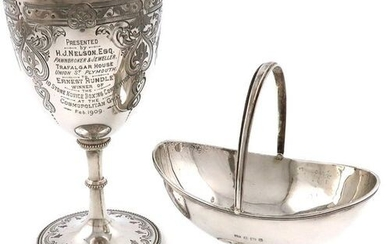 A Victorian silver goblet, by Richards and Brown, London 1863,...