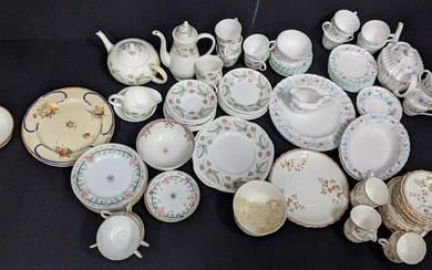 A large collection of porcelain and part tea-services