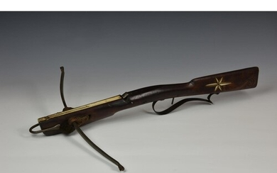 A rare antique sporting / hunting crossbow, probably second ...