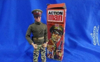 Action Man; A boxed 'Talking Commander now more Dynamic Phys...