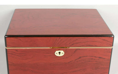 An early 20th century stained mahogany smokers cabinet.