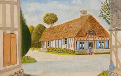 André BOUQUET (1897-1987)Norman cottageOilon canvas.Signed lower right.Titled on the back on the frame.33 x 46 cm