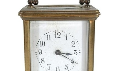 Antique French marked SF travel clock
