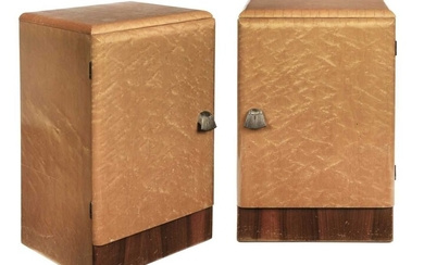 Art Deco. A pair of bedside cabinets circa 1930