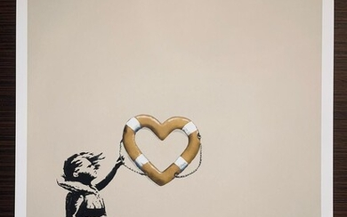 Banksy (after) X Post Modern Vandal (Gold)