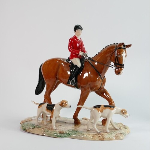 Beswick large tableau piece The Hunt: limited edition of 10...
