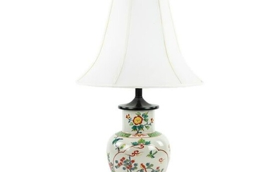 Chinese Crackle Porcelain Vase Table Lamp