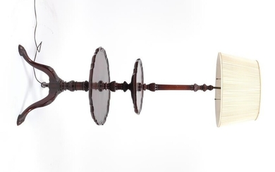 Chippendale Style Floor Lamp with Table