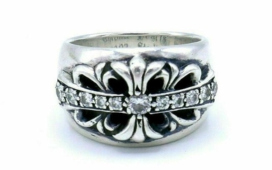 Chrome Hearts 1992 Sterling Silver Diamond Ring