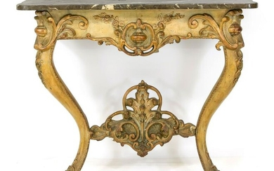 Console table around 1800, curved