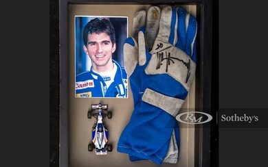 Damon Hill Race Worn and Signed Gloves