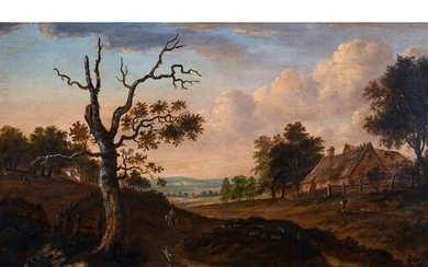 Early 19th Century Dutch School. An Extensive Landscape with...