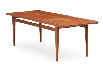 Finn Juhl: Solid teak coffee table with raised edges. Manufactured by France & Son. H. 53. L. 175. W. 60 cm. – Bruun Rasmussen Auctioneers of Fine Art