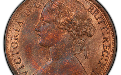 Great Britain: , Victoria Penny 1871 MS65 Red and Brown PCGS,...