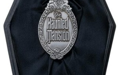 Haunted Mansion 30th Anniversary Pin in Coffin Box.
