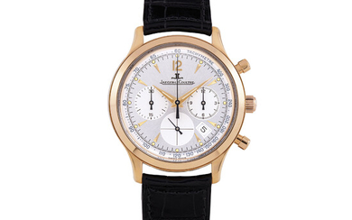 JAEGER-LECOULTRE, MASTER CONTROL, PINK GOLD, CHRONOGRAPH WITH DATE