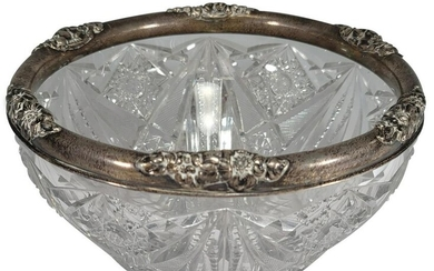 Marked GM & Co sterling 925 & crystal bowl