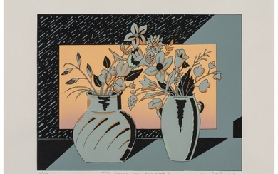 Milton Glaser (1929-2020) Two Vases, One Bouquet