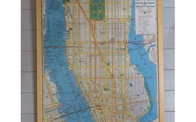 NEW YORK HOUSE NUMBER MAP BY HAGSTROMS Original map, Framed ...