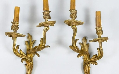 Pair of wall appliques, late 19th