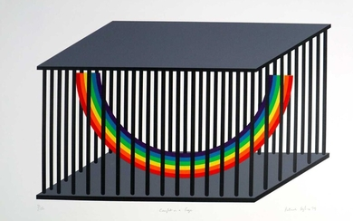 Patrick Hughes (British b.1939) Caught in a Cage