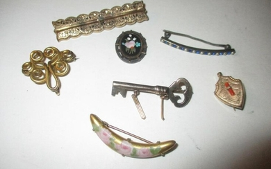 Seven Pieces of Victorian Jewelry