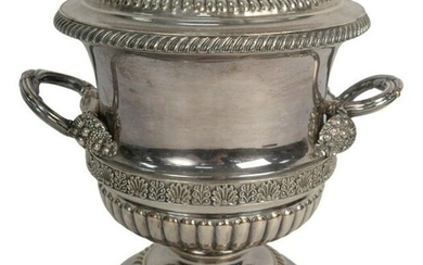 Sheffield Silver Plated Wine Cooler with two handles