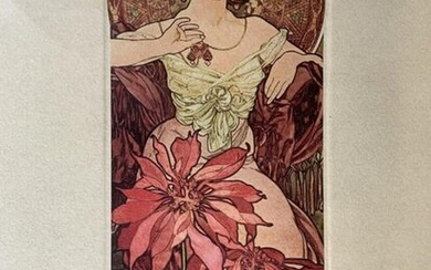 Signed Lithograph Attributed to ALPHONSE MUCHA