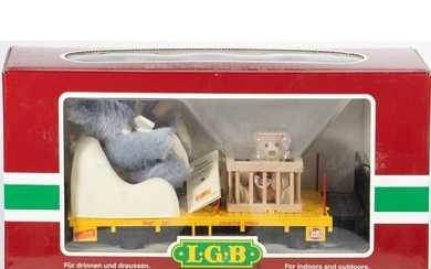 Steiff Teddy Bear 2001 Flat Car with Mom and Baby in Playpen