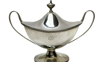 Sterling Silver Swedish Sauce Tureen with Gilt Interior
