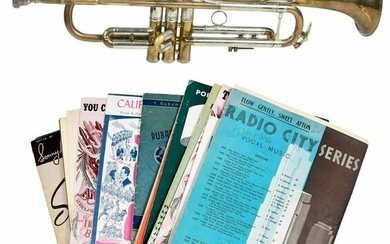 Stradivarius Trumpet with Case and Sheet Music