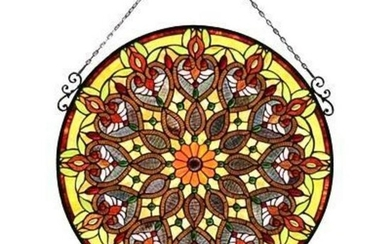 Victorian Tiffany Style Stained Glass Hanging Window