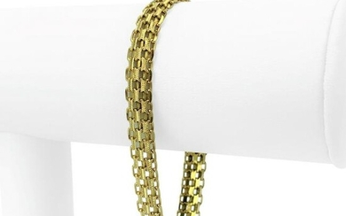 14k Yellow Gold 9.9g Ladies 8mm Bismark Link Chain