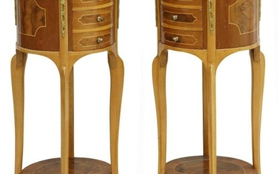 (2) LOUIS XV STYLE TWO-TIER NIGHTSTANDS