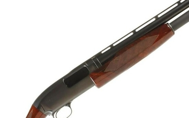 A CLEAN WINCHESTER 16 GAUGE MODEL 12 WITH GREAT WOOD