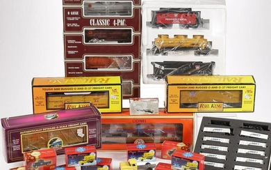 A GOOD GROUP OF TRANSPORTATION RELATED TOYS