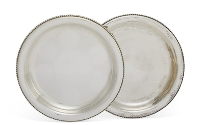 A PAIR OF DANISH SILVER SERVING DISHES, NO. 290C