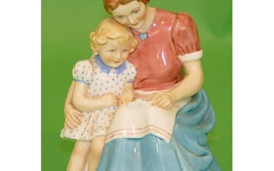 """A Royal Worcester Figurine """"The letter"""" numbered 3382 in for..."""