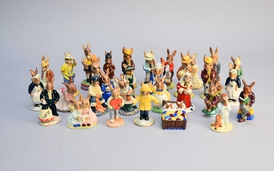 A collection of approximately 30 Royal Doulton Bunnykins figures
