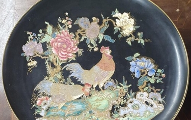 A good early 20th Century Carlton Ware Charger with cock and...