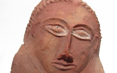 A large Canaanite terracotta funerary mask