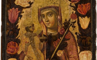 AN ICON SHOWING THE MOTHER OF GOD 'OF THE UNFADING...