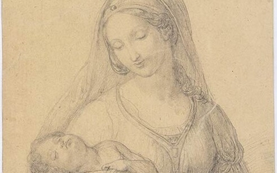 ANONYMOUS, 19th CENTURY Virgin with Child, in the manner of...