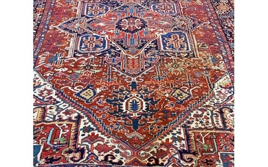 ANTIQUE HERIZ CARPET, 340cm x 240cm.