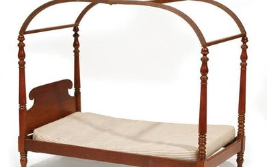 American Mahogany Child's Tester Bed